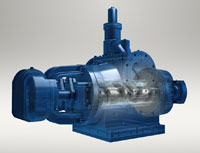 High capacity twin screw pumps provide smooth, pulseless flows