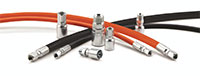 Thermoplastic hydraulic hoses and fittings designed to work together, enabling safe and effective fluid conveyance