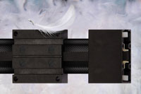 Up to 60% lighter - new carbon fibre linear guide