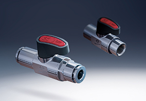 Compact mini ball valves for tight spots